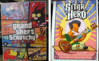 Simpsons game parody posters